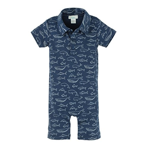 Feather Baby Boys Clothes Pima Cotton Collared Short Sleeve