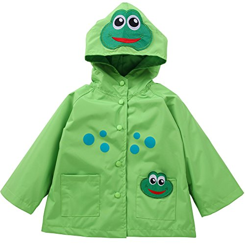 LZH Toddler Rain Jacket Girls Boys Raincoat Waterproof