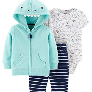 Carter's Baby Boys 3 Piece Bodysuit Pant Little Jacket Set