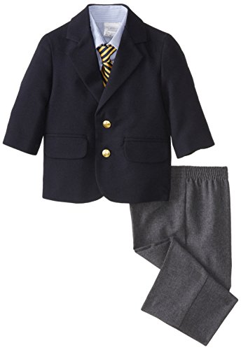 Nautica Boys' 4-Piece Suit Set with Dress Shirt