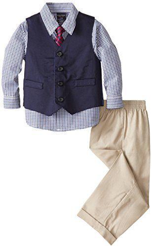 Nautica Dressy Vest Set, Khaki, 24 Months