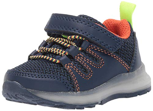 Carter's Girl's Light-Up Sneakers, navy