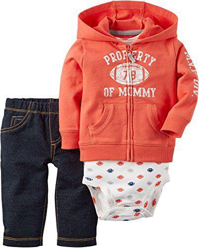 Carter's Baby Boys 3-Piece Football Hoodie Set 9 Months