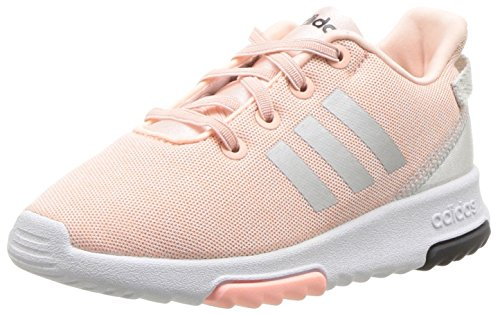 adidas Kids CF Racer TR Running Shoe, Haze Coral/Metallic Silver/White