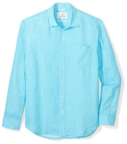 Palms Men's Relaxed-Fit Long-Sleeve 100% Linen Shirt
