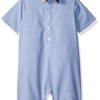 Nautica Baby Boys Fashion Button Up Shortall with Bowtie