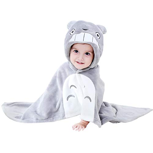 Mukola Kids Totoro Costume Cape Anime Hooded Blanket
