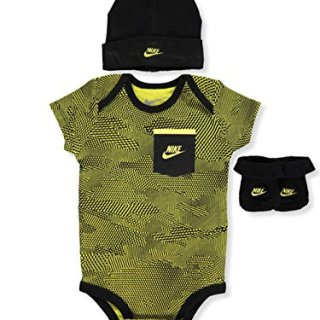 NIKE Baby Boys' 3-Piece Layette Set - Electro Lime, 0-6 Months