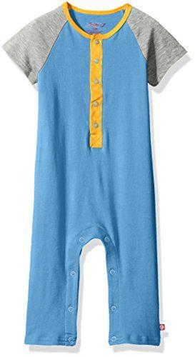 Zutano Baby Boys' Raglan Short Sleeve Suit, Periwinkle