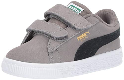 PUMA Baby Suede Classic Velcro Sneaker Charcoal Gray Black