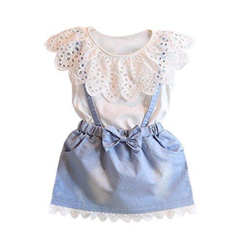 WuyiMC Denim Dress For Girls, Baby Kids Dresses Princess