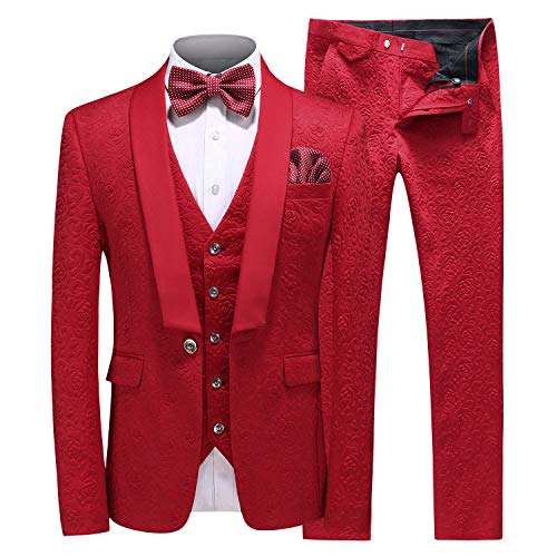 MOGU Mens New Casual Slim Fit Skinny Dress Suits