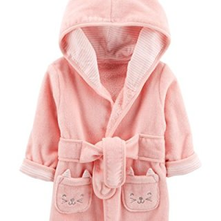Carter's Baby's Hooded Robe (0-9 Months, Pink)