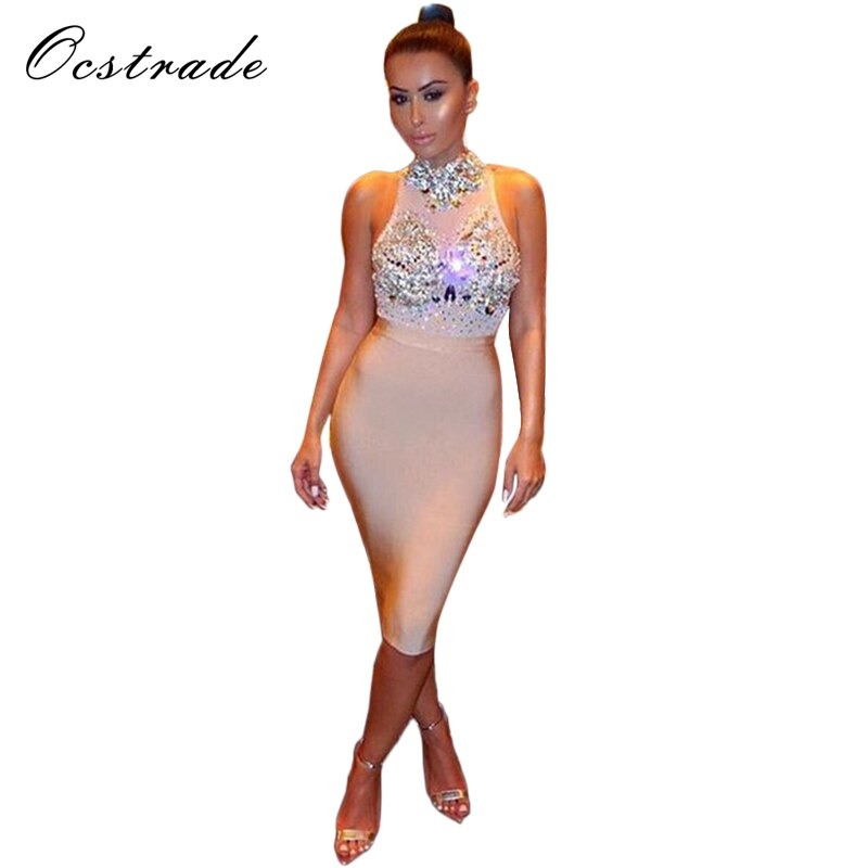 Summer Dress Club Party Dresses New Arrival Women's Nude