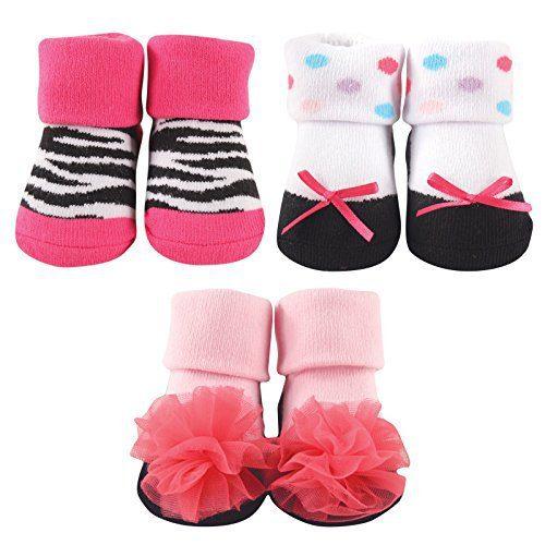 Luvable Friends 3-Pack Little Shoe Socks Gift Set, Zebra