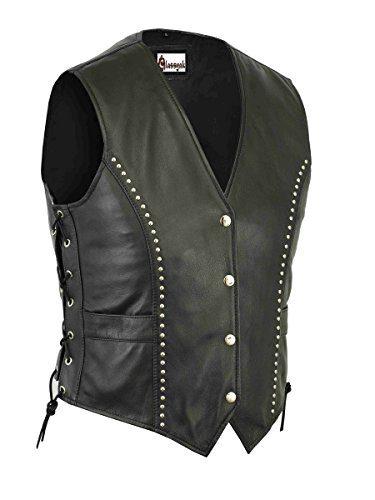 Classyak Women's Fashion Motorcycle Leather Biker Vest