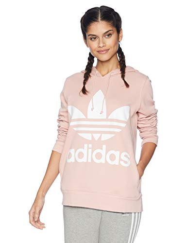 adidas Originals Women's Trefoil Hoodie, Pink Spirit, Medium
