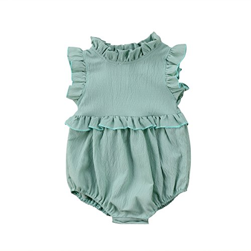YOUNGER TREE Toddler Baby Girl Ruffled Collar Sleeveless