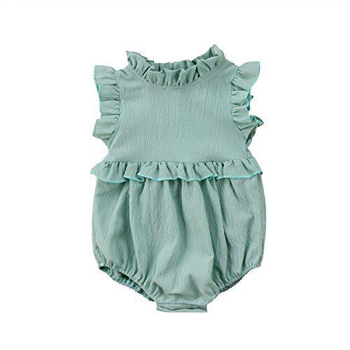 YOUNGER TREE Toddler Baby Girl Ruffled Collar Sleeveless
