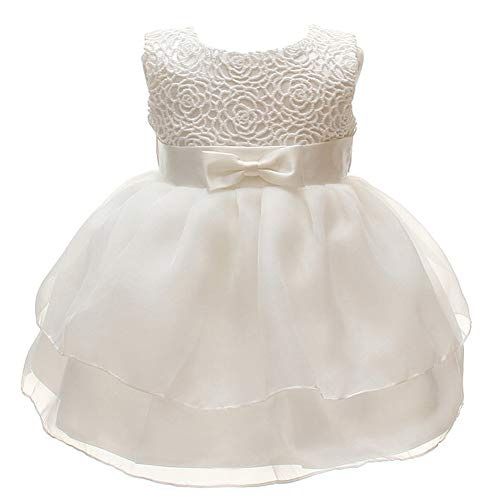 Baby Girls Dresses Christening Wedding Pageant Bow Formal Dress