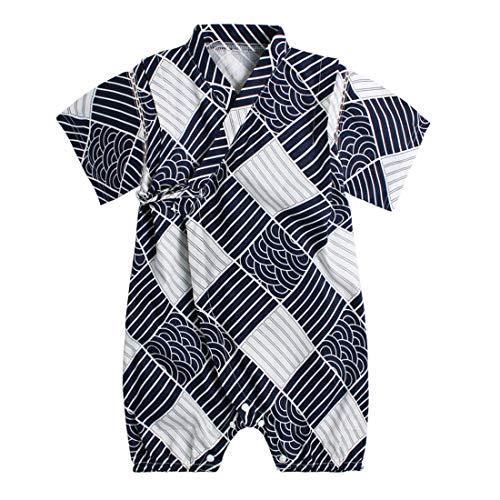 PAUBOLI Baby Japanese Kimono Robe Cotton Infant Comfy Loose Pajamas