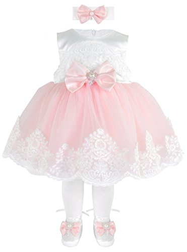 T.F. Taffy Taffy Baby Girl Newborn Pink Embroidered Princess