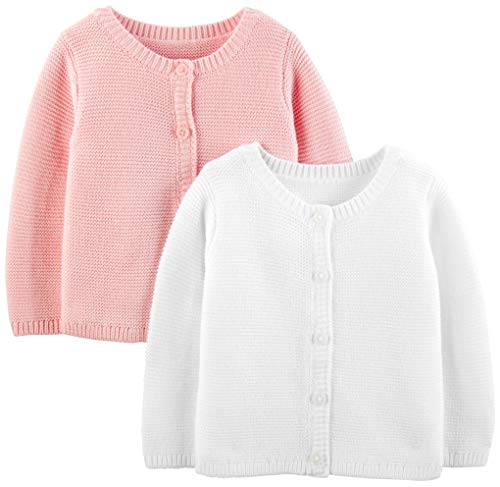 Simple Joys by Carter's Girls' 2-Pack Knit Cardigan Sweaters