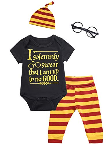 Baby Boys Girls Infant Outfit Set Layette Magician Funny Bodysuit Pants