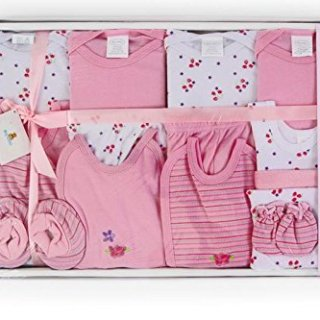 Big Oshi 15 Piece Layette Newborn Baby Gift Set for Girls