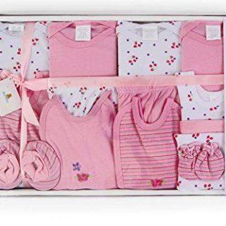 Big Oshi 15 Piece Layette Newborn Baby Gift Set for Girls