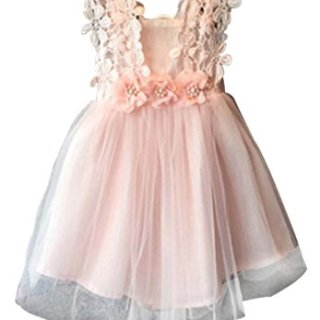 EGELEXY Baby Girls Sleeveless Lace Wedding Vintage Birthday Party