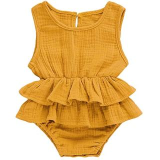 Bowanadacles Newborn Baby Girl Romper Jumpsuit Cotton