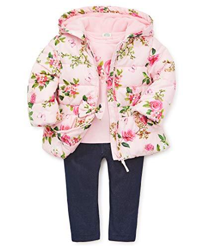 Little Me Baby Girl's Jacket Set Outerwear, pink botanical, 12 Months