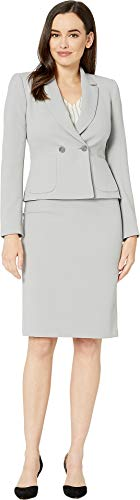 Tahari by ASL Women's Crepe Skirt Suit with Flat Pocket