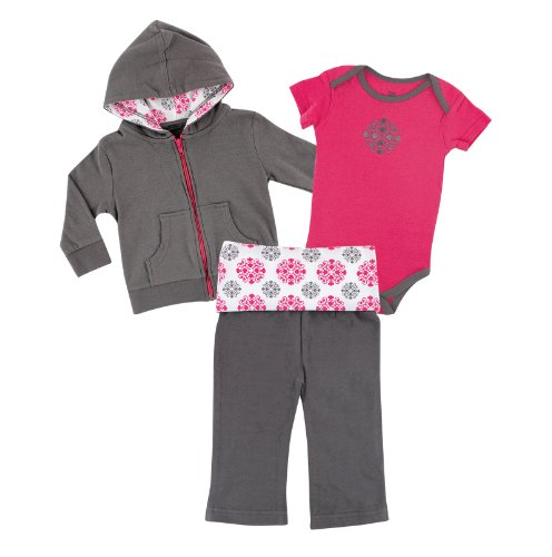 Yoga Sprout Infant 3 Piece Jacket, Top and Pant Set