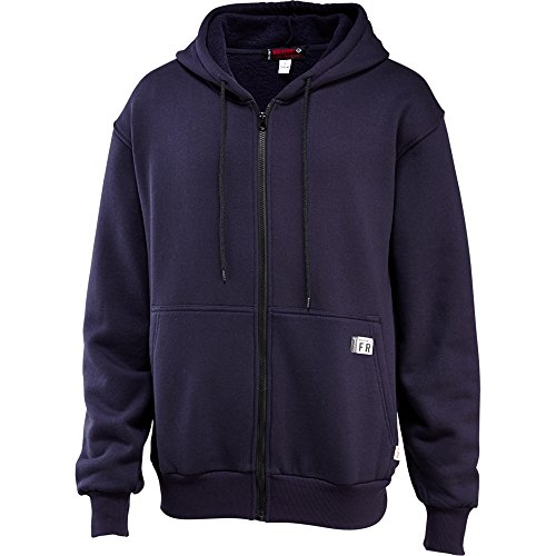 Wolverine FireZerO Fleece Zip Front Hoody Men XL Navy
