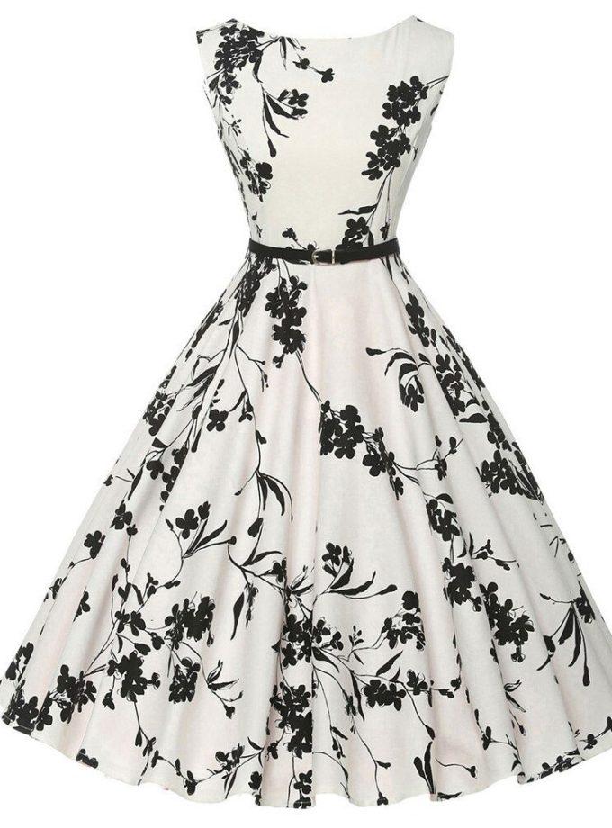 Women Summer Dress plus size clothing Audrey hepburn Floral robe