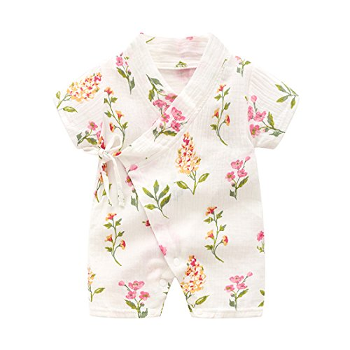 Blanket Sleepers Newborn Infant Baby Girl Floral Sleepwear Pajamas Robe Gown Cotton Clothes 0-6m Mother & Kids