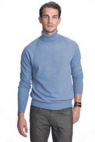 State Cashmere Men's 100% Pure Cashmere Turtleneck Long Sleeve