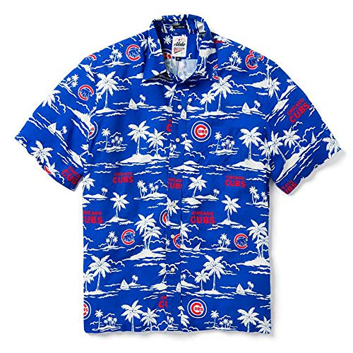 Reyn Spooner Men's Chicago Cubs MLB Classic Fit Hawaiian Shirt