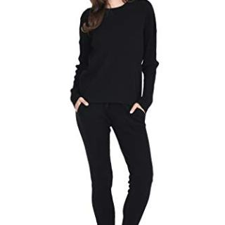 State Cashmere Women's 100% Pure Cashmere Knitted Pants