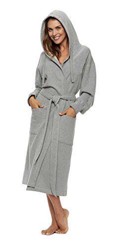 Unisex Sweatshirt Hoodie Hooded Robe, Heather Gray