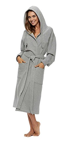 Unisex Sweatshirt Hoodie Hooded Robe, Heather Gray