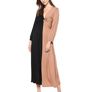 Rachel Pally Women's Two-Tone Twist Dress, Black/Dulce