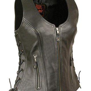 Milwaukee Leather Women's Open Neck Side Lace Zipper