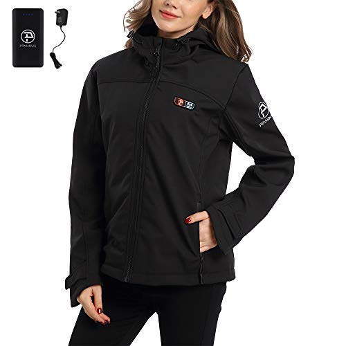 Ptahdus Women's Heated Jacket Soft Shell with Hand Warmer