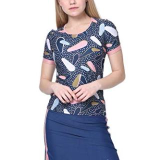 Amanda K Modest Swimwear for Women Short Sleeves Shirt