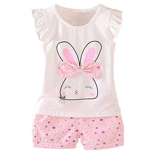 MH-Lucky Baby Girl Clothes Summer Outfits Short Sets 2 Pieces