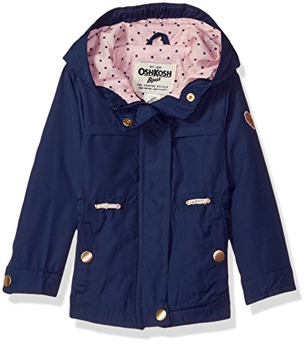 Osh Kosh Baby Girls Lightweight Anorak Jacket, Indigo Blue 12M