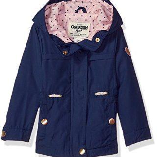 Osh Kosh Baby Girls Lightweight Anorak Jacket, Indigo Blue 12M
